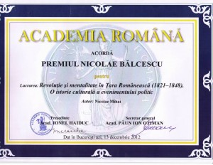 Nicolae Mihai. premiu AR 2012
